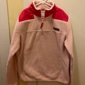 Vineyard Vines pink fleece 3/4 zip jacket